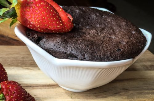 Chocolate mug cake finished