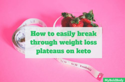 Break through weight loss plateaus keto