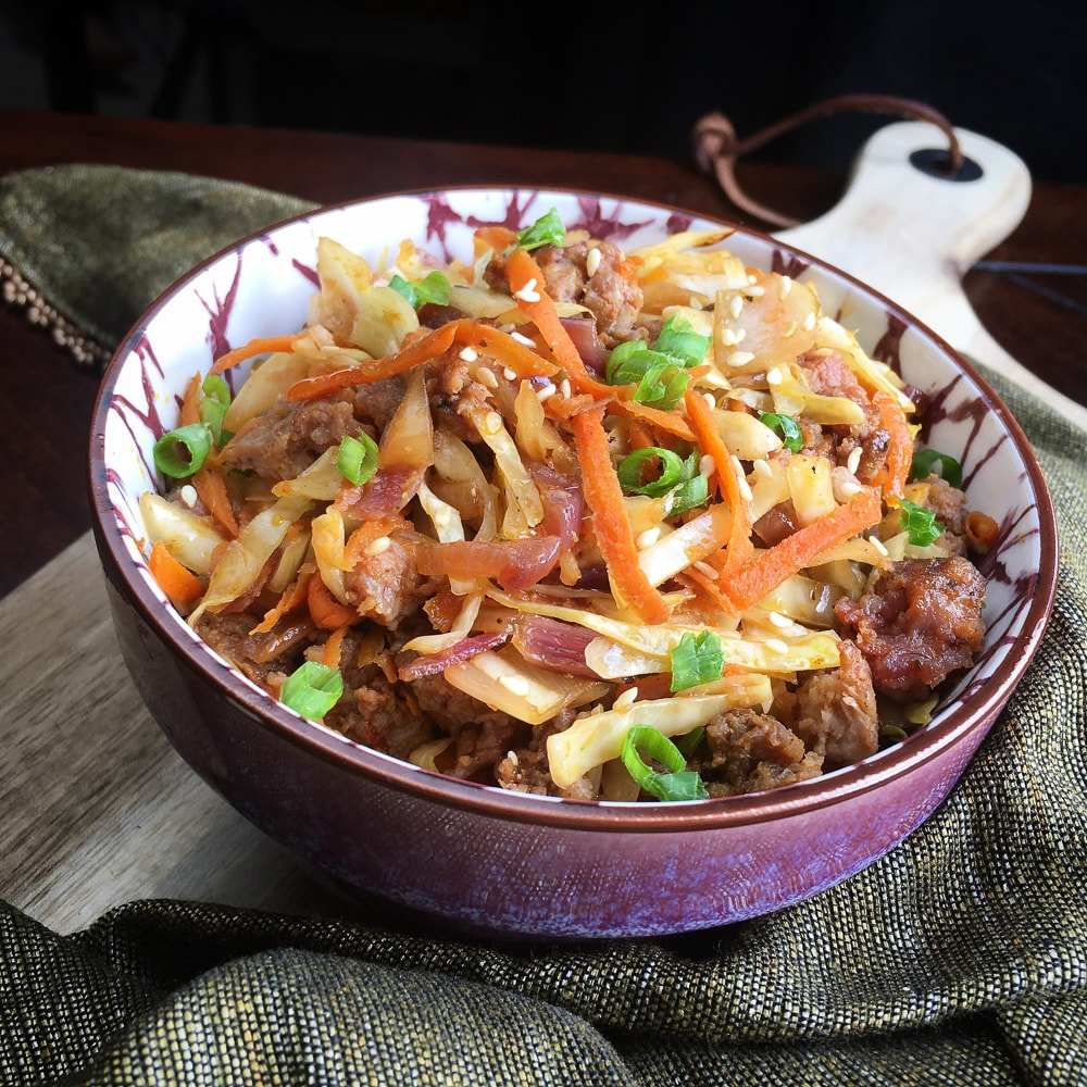 Keto egg roll in a bowl 1