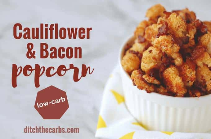cauliflower and bacon popcorn