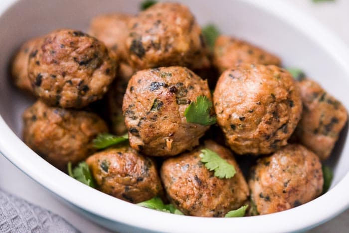 spicy baked chicken meatballs keto lunch recipes