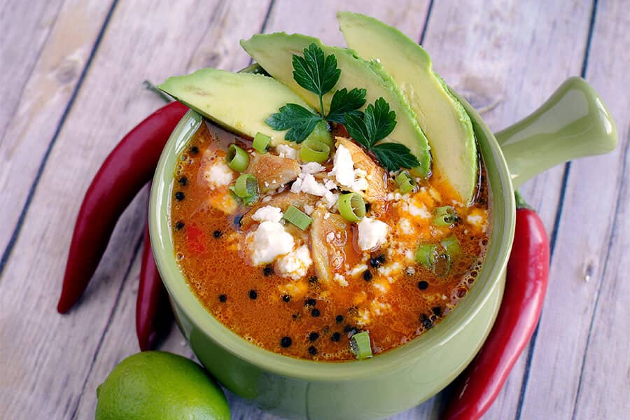low carb chili pepper soup