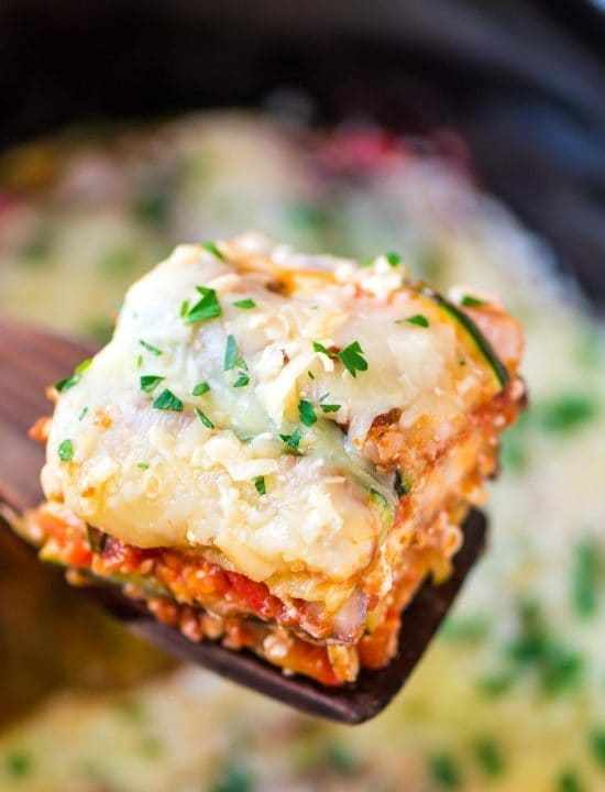 Crockpot low carb lasagna