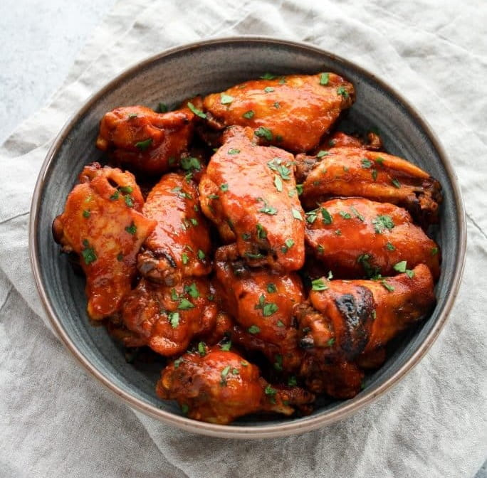 Instant Pot Low-Carb Sweet & Spicy Barbecue Chicken Wings