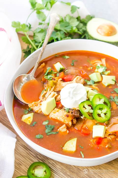 Keto Instant Pot Chicken Enchilada Soup