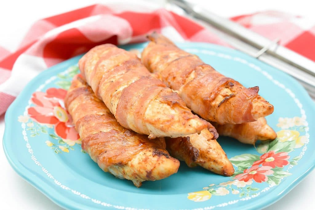 Bacon wrapped chicken Keto appetizer