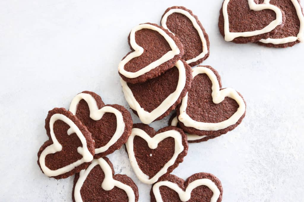 Chocolate Heart Cookies keto valentine recipe
