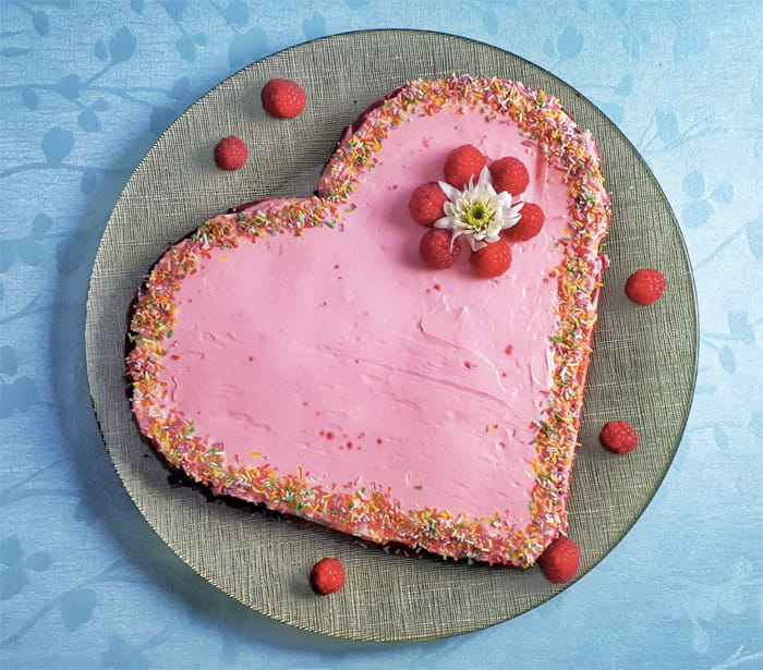 Keto Red Velvet Heart-Shaped Cake
