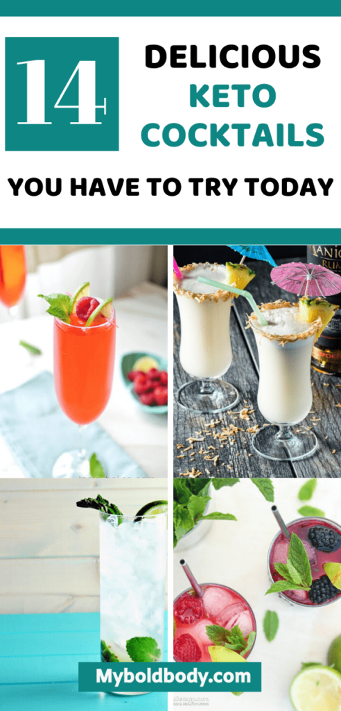 Here are 14 keto cocktails that taste great and won't throw you out of ketosis. These low carb alcoholic drinks are perfect for any occassion and won't ruin your weight loss goals. Enjoy the best of low carb and keto friendly cocktails. #cocktail #ketodrinks #ketodiet #lowcarbdrink #ketoalcohol