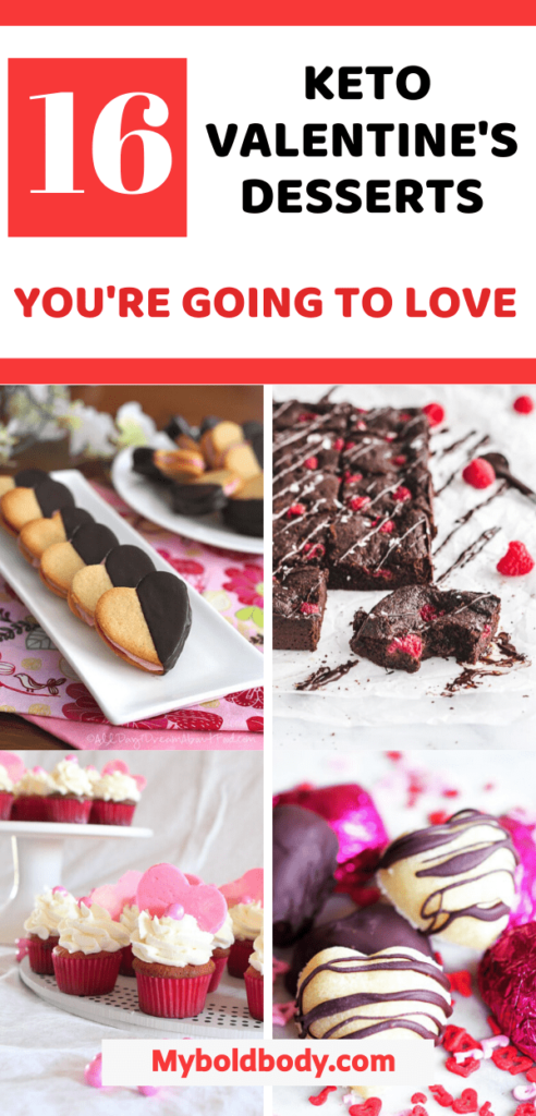Enjoy this valentine with the best low carb and keto friendly desserts and treats that will keep you burning fat. Here are 16 easy and delicious keto recipes for valentine's day that will make you fall in love. These low carb valentine recipes are the perfect treat for you and your person. #ketodessert #lowcarb #ketorecipes #valentine