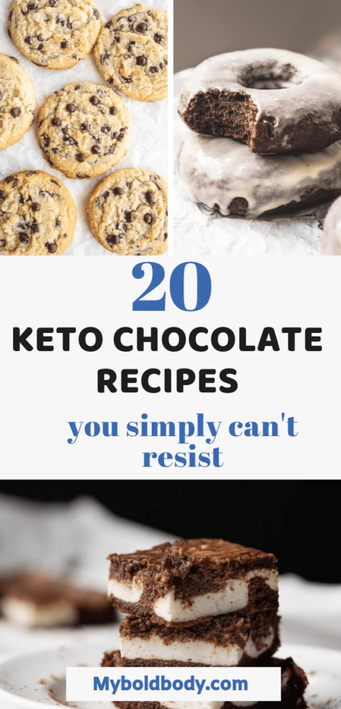 Craving something sweet and yummy on a low carb keto diet? Here are 20 easy and delicious keto chocolate recipes that you simply can't resist. they make the perfect keto dessert or snack, are weight loss friendly and won't throw you off ketosis. #ketochocolate #lowcarbdessert #ketogenic #ketodessert #lowcarb #ketosnacks #chocolate