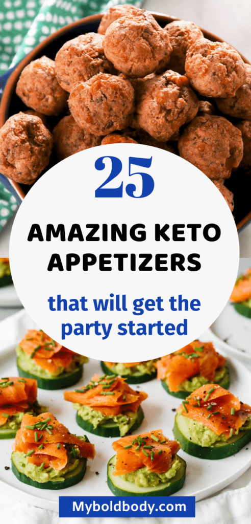 Here are 25 simple, easy and absolutely delicious keto appetizers that you have got to try out. These healthy low carb appetizers are perfect for any occassion, and will satisfy your cravings and keep you in ketosis. #appetizer #ketodiet #lowcarb #ketoappetizer #ketogenic #ketorecipes #ketosnack.
