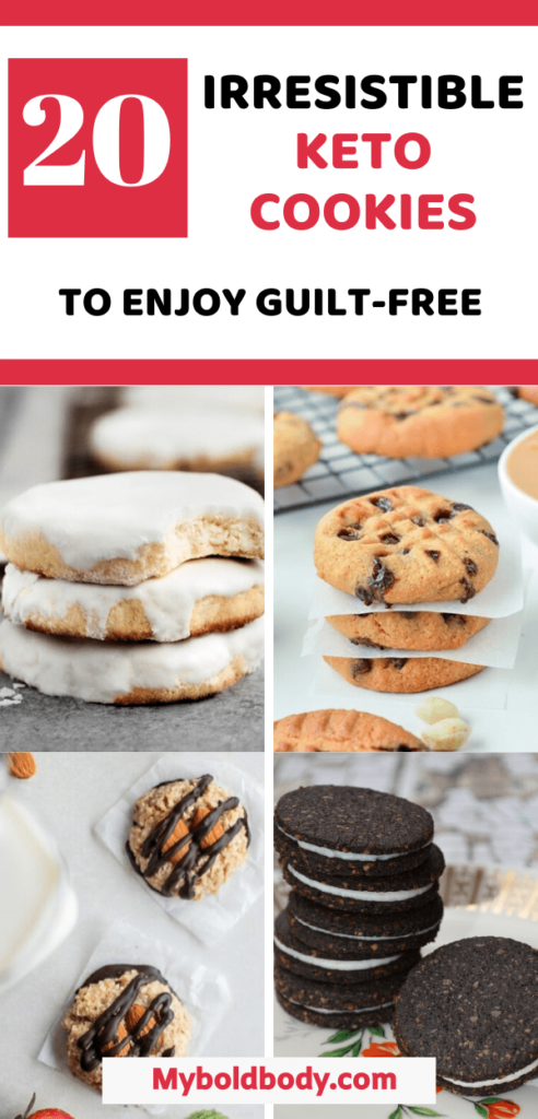 Enjoy the best of simple, easy and delicious low carb cookies that will help you burn fat on keto. Here are 20 keto cookie recipes you can enjoy guilt-free on a ketigenic diet. These healthy cookies make the perfect low carb snack or dessert for everyone. #ketocookies #ketodessert #healthysnacks #lowcarbrecipe #ketosnacks