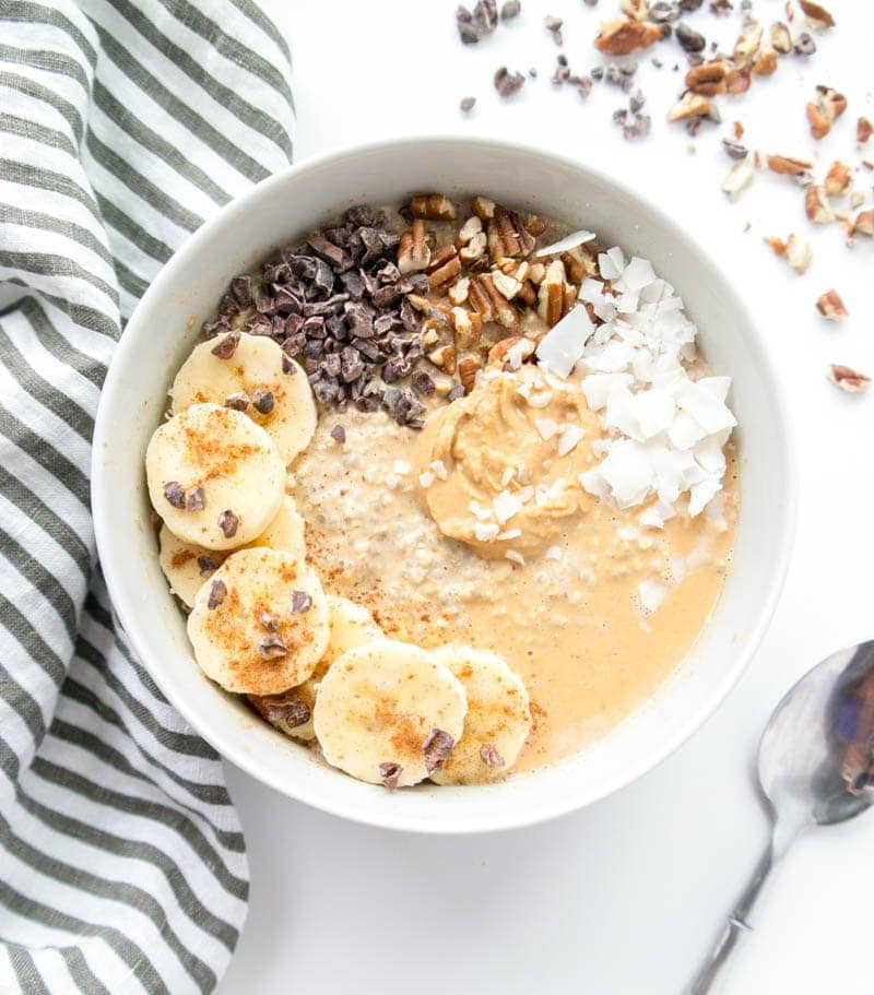 Peanut Butter Chia Overnight Oats