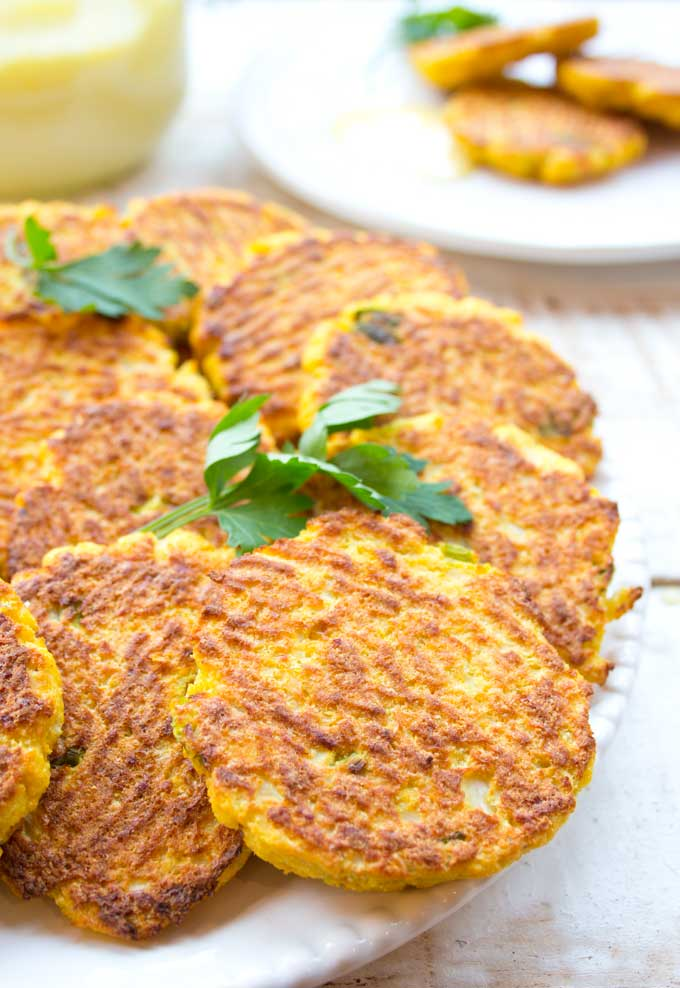 Crispy Cauliflower Hash Browns