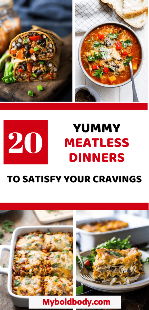 Here are 20 easy and delicious meatless dinners to satisfy your cravings. Whether it's for meatless mondays or a vegetarian diet, these cheap and healthy meatless meals are sure to leave you satisfied. Some of these recipes are also vegan friendly. #meatlessmeals #meatlessdinner #vegetarianrecipes #healthydinnner #healthyrecipes #vegandinner
