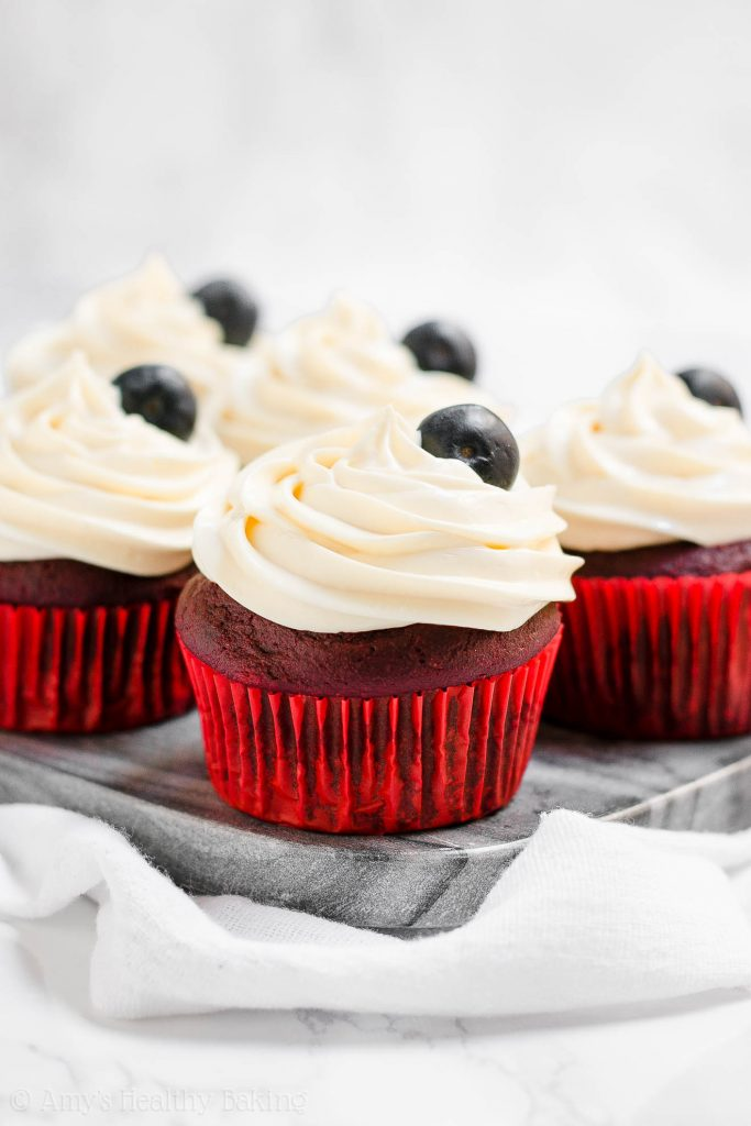 Healthy 4th of July Cupcakes