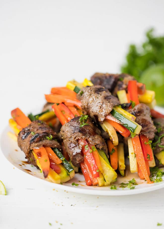 Steak Roll Ups Recipe With Veggies