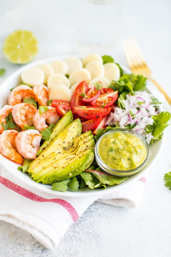Hearts of Palm Salad with Shrimp and Avocado