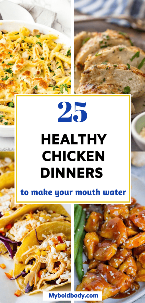Looking for the best chicken dinner ideas to enjoy with the family? Here are 25 super easy and healthy chicken dinner recipes to satisfy your cravings. They are super simple to prepare, and taste so good. #chicken #dinner #healthyrecipes #chickendinner #easydinner