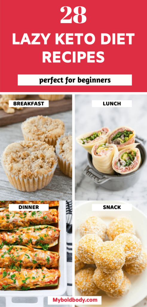 Here are 28 super easy, delicious and lazy keto diet recipes, that are perfect for beginners. From keto breakfasts, to keto lunch, to keto dinners and keto snacks, these quick and yummy low carb recipes will satisfy your cravings and help you lose weight easily without stress. #ketodiet #ketorecipes #lowcarb #lazyketo #ketodietforbeginners #ketogenicdiet