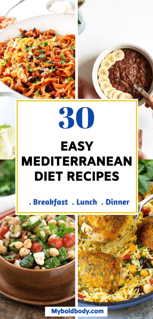 Enjoy the best of easy and delicious mediterranean diet recipes that will keep you satisfied and help you lose weight. These healthy mediterranean diet recipes include breakfasts, lunch and dinner, and are perfect for beginners as well and great for weight loss. #mediterraneandiet #weightlossrecipes #mediterraneanrecipes #healthyrecipes