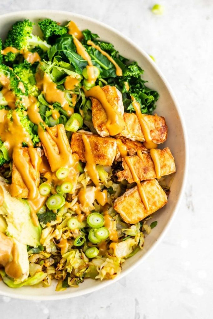 Low-Carb Vegan Dinner Bowl