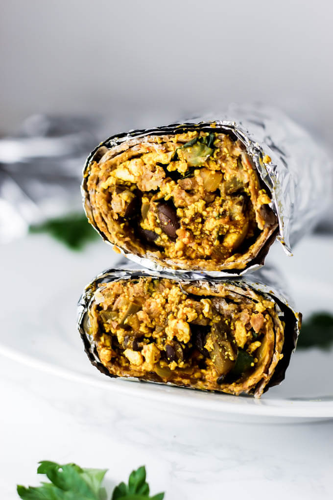 Freezer Vegan Breakfast Burrito