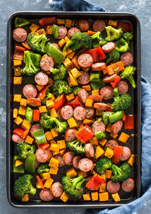 Healthy 20 Minute Sausage and Veggies