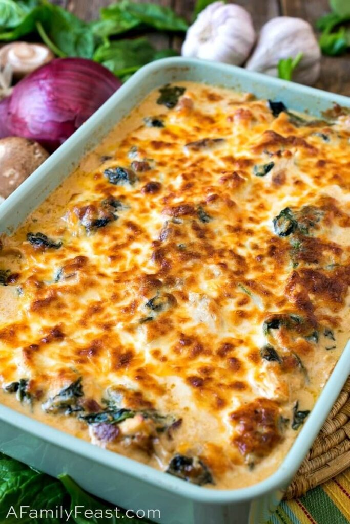 Keto Chicken Cheese Bake