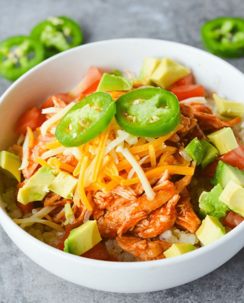 Low Carb Chicken Enchilada Bowl
