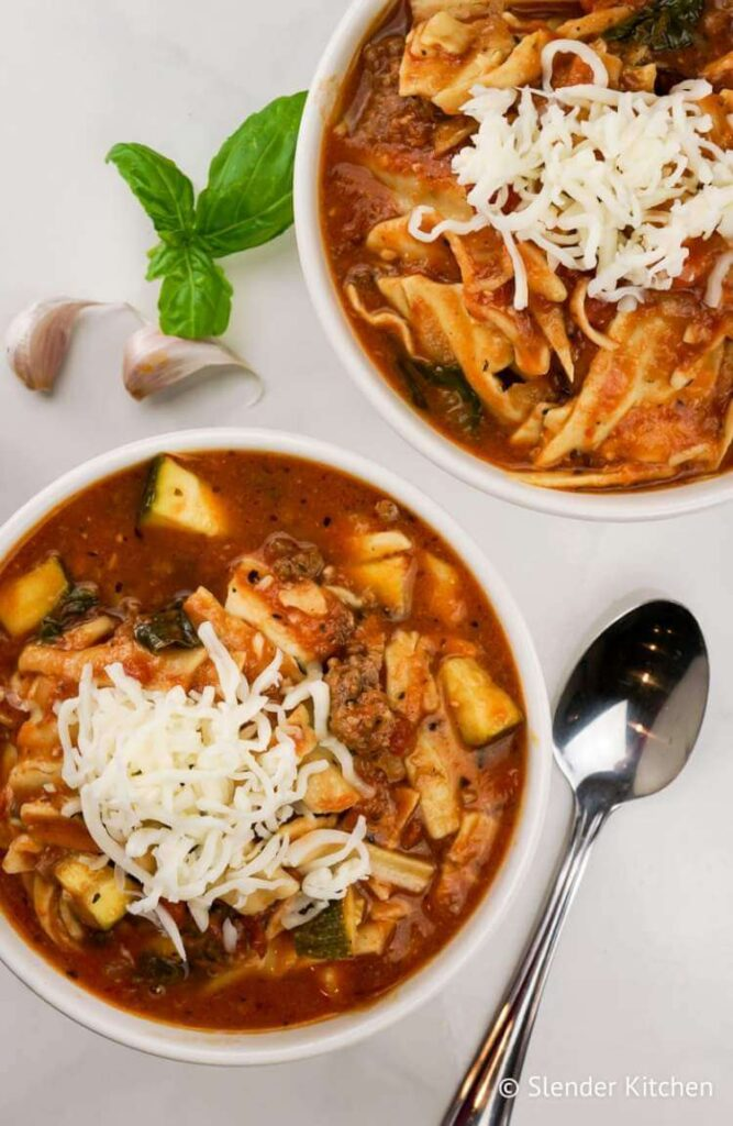 Healthy Slow Cooker Lasagna Soup
