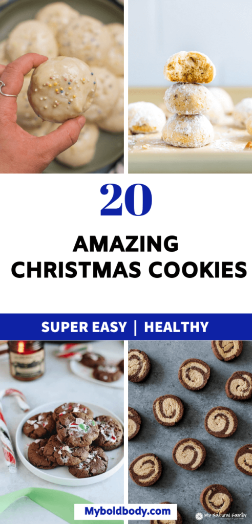 Here are 20 easy, healthy and super delicious christmas cookies to enjoy this holiday season. These healthy and festive christmas cookies make the perfect holiday dessert or snack for everyone, and will satisfy your cravings easily. #christmasdessert #christmascookies #holidaydesserts #healthydessert