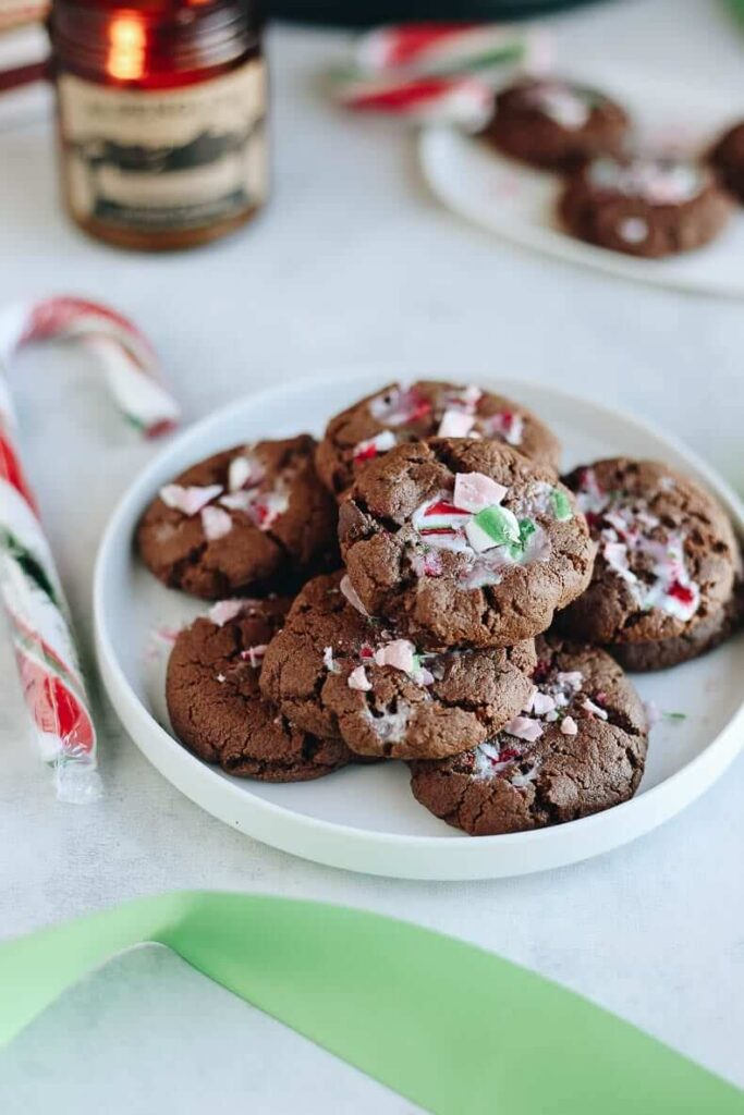 Healthy Peppermint Chocolate Cookies