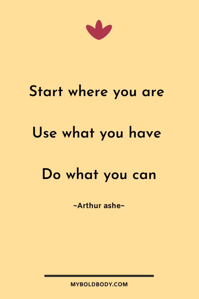 Weight Loss Motivation #14 - Start where you are. Use what you have. Do what you can – Arthur ashe