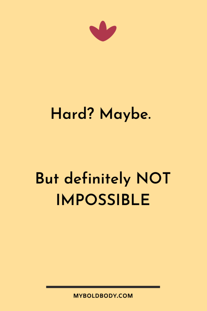 Weight Loss Motivation #20 - Hard? Maybe. But definitely not impossible