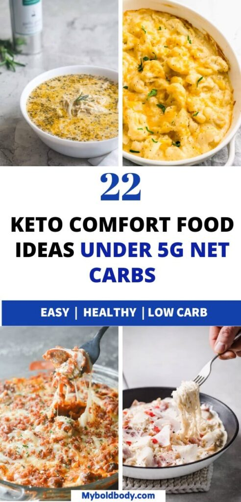Enjoy the best of easy and delicious low carb comfort foods that'll help you lose weight easily. These 22 amazing keto comfort food recipes, are easy to make, healthy and all under 5g net carbs. #ketorecipes #ketodiet #comfortfood #ketodinner #lowcarbrecipes #healthyrecipes #ketogenicdiet