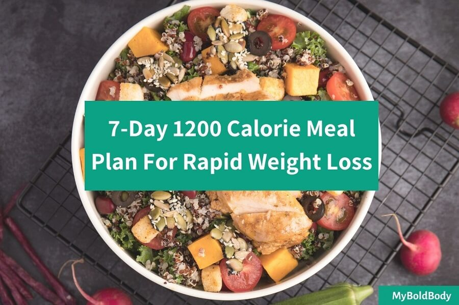 An Easy 7-Day 1200 Calorie Meal Plan For Rapid Weight Loss