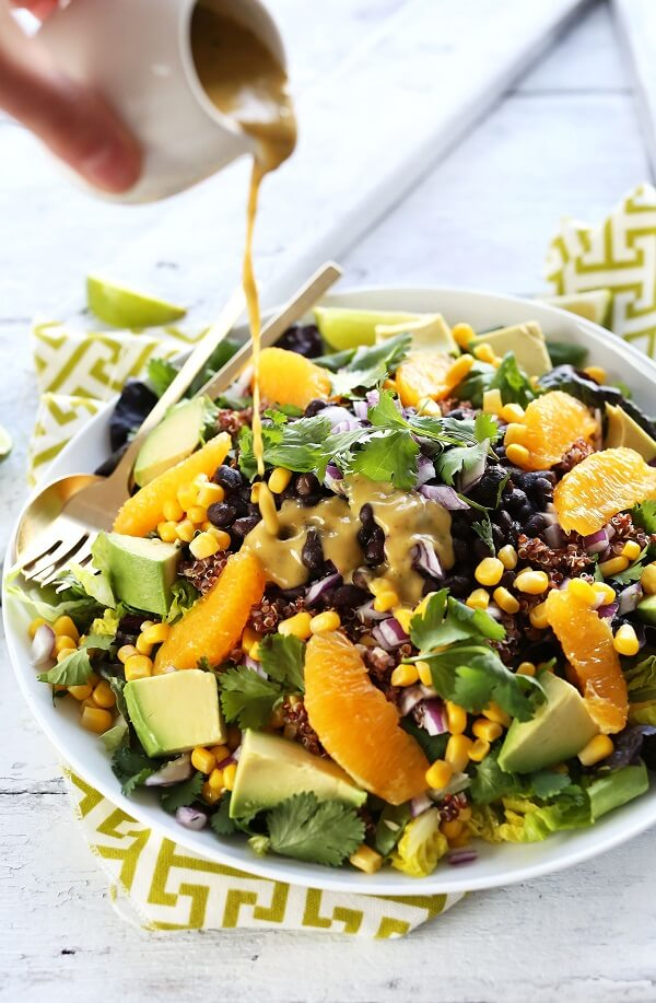 Black Bean Quinoa Salad with Orange Lime Dressing