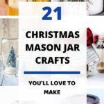 Here are 21 super easy DIY christmas mason jar crafts to make this holiday season. These beautiful mason jar ideas can be used as a nice christmas decor, or even as a christmas gift to your loved ones. And your kids would love them too #christmascrafts #holidaycrafts #masonjarcrafts #christmasDIY #christmasdecor