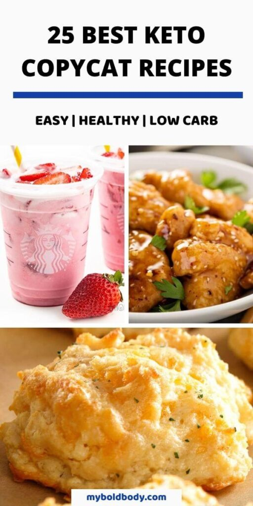 Enjoy 25 of the best keto copycat recipes to satisfy your cravings without falling off ketosis. These amazing keto fast food and restaurant copycat recipes are so easy to make, super delicious, healthy and low carb and will help you burn fat on the ketogenic diet. #ketorecipes #ketofastfood #lowcarb #lowcarbfastfood #healthyrecipes #easyketo