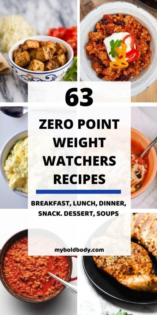 Enjoy these 63 super delicious zero point weight watchers recipes without guilt. These easy, healthy and yummy weight watchers recipes have zero points on the blue and purple ww frestyle plan. From yummy breakfast, to lunch and dinner, snacks and even dessert. #weightwatchers #weightwatchersrecipes #ww #wwsmartpoints #zeropointrecipes