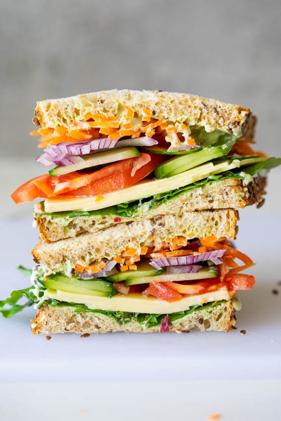 Easy healthy salad sandwich
