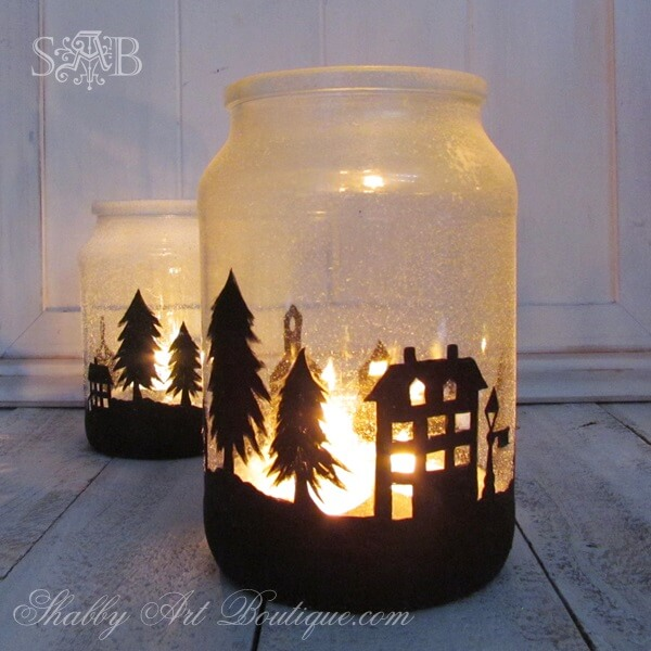 Christmas Township Candle