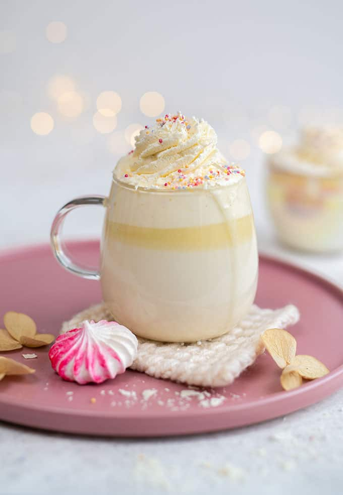 Delicious homemade White Hot Chocolate