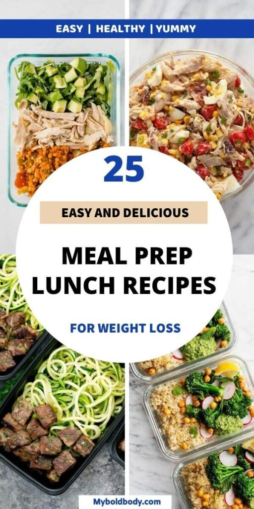 Here are 25 easy, super delicious and healthy meal prep lunch ideas to help you lose weight. These delicious meal prep lunch recipes are super quick and easy to make ahead in just a few minutes, and are good for weight loss too. #healthyrecipes #mealprep #healthylunch #lunchideas #mealpreplunch #mealpreprecipes #healthymealprep