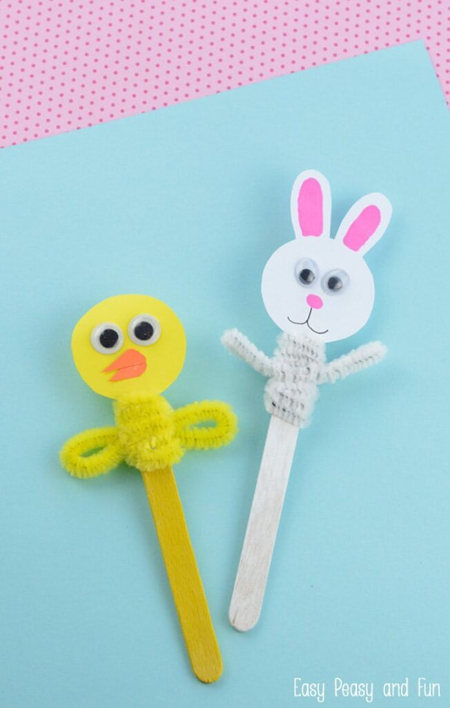 Easter Craft Stick Puppets