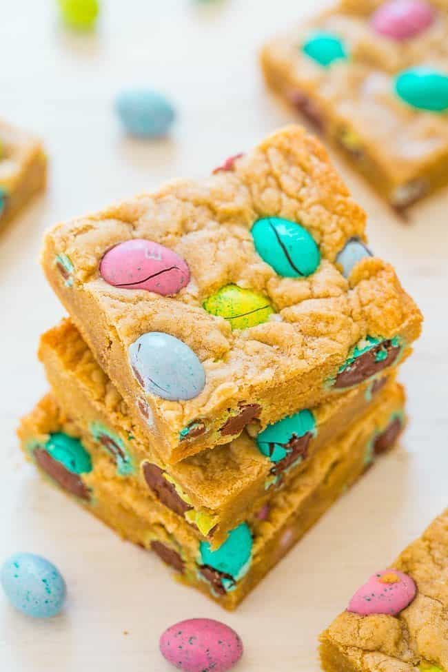 Easter Egg Blondies