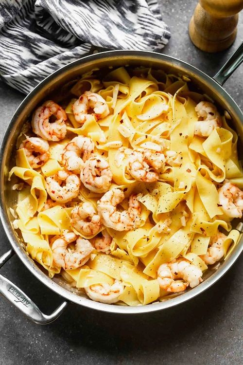 Easy Shrimp Pappardelle