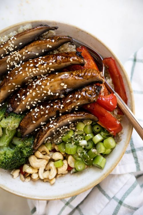 Asian Portobello Mushroom Bowl
